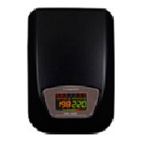Стабилизатор напряжения настенный симисторный LUXEON EWR-10kVA, 10000VA, 7000ВТ, 90-260V, 220 ±3-7%, клемы, Металл, Black