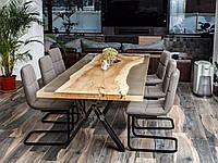 Стол для кухни-столовой из массива белого клена #40