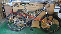 Горный двухподвесный велосипед AZIMUT Blaster 26 дюймов 18 рама, фото 1