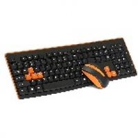 Комплект беспроводной (KB+Mouse) HQ-Tech KM-32RF Orange, 2.4G, USB nano