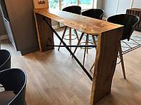 Кухонная барная стойка из массива #2