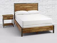Кровать из массива и металла #1
