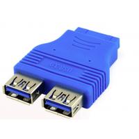 Переходник USB 3.0 для материнской платы, 20pin to 2 port USB 3.0, внутренний, Пакет