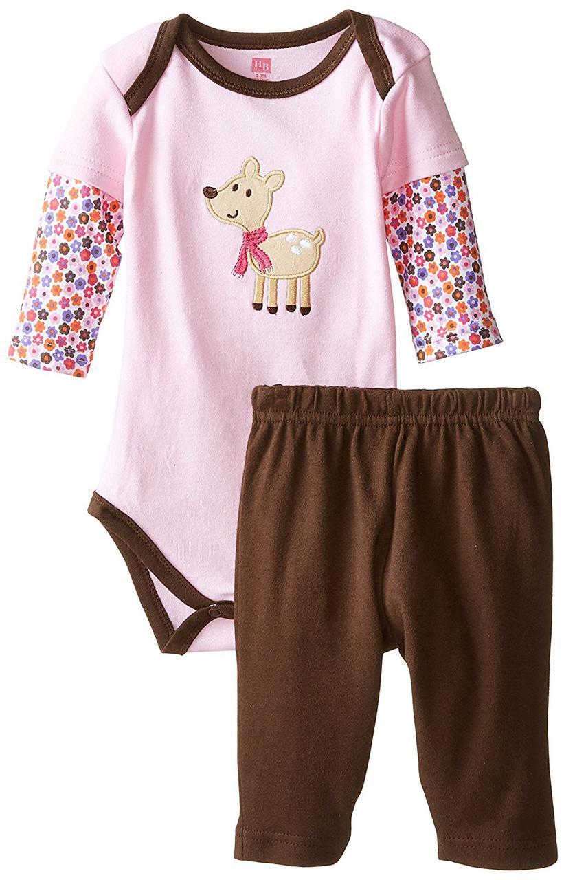 "Комплект для малышки ""Собачка"" 6-9 мес. Hudson Baby (США)"