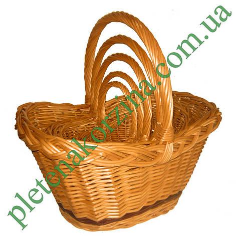 Набор плетеных корзин из 5шт. арт.101-5, фото 2
