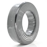 Коаксиальный кабель RITAR RG6U-48W, 1,02 мм.CCS, 48x0.12m CCA желтый экран, 75 Ом, FPE, оболочка 6,8мм белая PVC, бухта 100м
