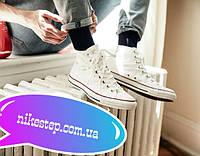 Белые высокие кеды Converse