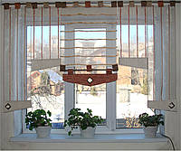 Японские занавески  Рельеф полоска, 2м, фото 1