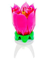 Музыкальная свеча цветок Лотос 12 см