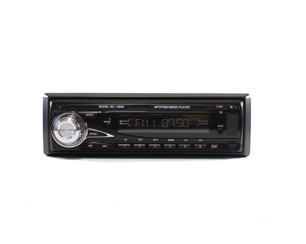 Автомагнитола MP3 1080A съемная панель, автомобильная магнитола 1DIN (съемная панель +ISO) SD, USB, AUX