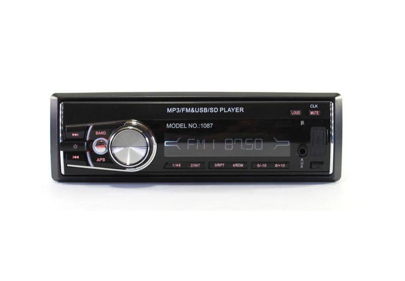 Автомобильная магнитола MP3 1087/ISO с еврофишкой и съемной панелью +ISO кабель