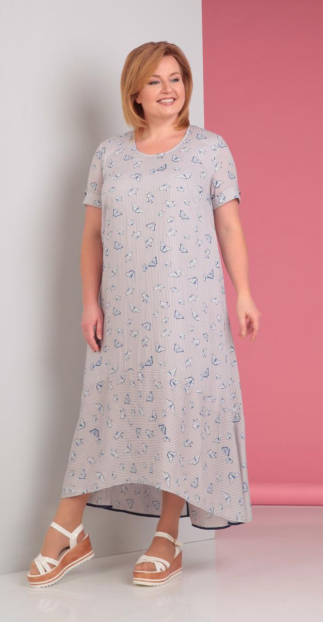 Платье Novella Sharm-2880 белорусский трикотаж, светлые тона, 62