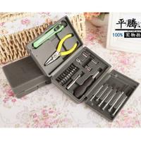 Набор бытовых инструментов 24 шт (ручка+10 насадок, утики, индикатор, плоскогубци, пинцет)