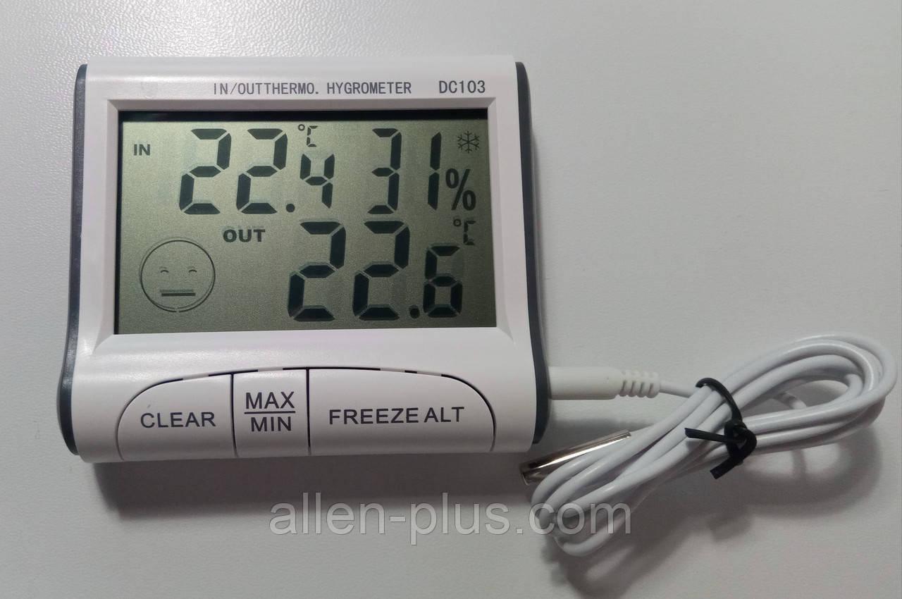 Термометр-гигрометр цифровой DC-103 (с выносным датчиком)