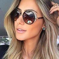 Солнцезащитные очки JimmyChoo коричневые, фото 1