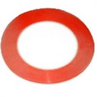 Скотч двусторонний 3M длина 50м, ширина 8мм красный