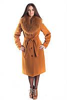 Женское зимнее пальто с мехом в разных цветах