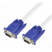 Кабель VGA 3+4 1.8m, male to male (папа-папа), 1 феррит, бело-синий, пакет
