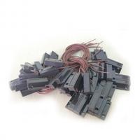 Датчик магнитоконтактный с проводом 30 см MC-38, 27*14*8 мм, пластик, черный, под саморез, липучка + саморезы, 20 штук в упаковке, цена за упаковку