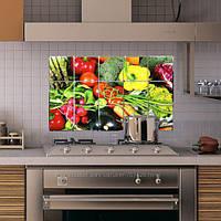 Водостойкая наклейка для кухни Овощи, антижировая 450мм*750мм
