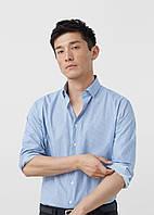 Рубашка MANGO MAN 595-46 Голубой