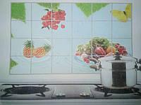 Водостойкая наклейка для кухни Ананас, антижировая 600мм*900мм