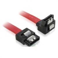 Кабель интерфейсный SATA 0.45м, загнутый с защелкой, красный