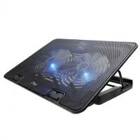 """Подставка под ноутбук DCX-033, 9-17"""", 2x120mm LED 1500+/-10% RPM, корпус пластик, 2xUSB 2.0"""