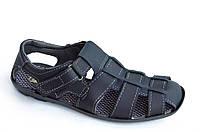 Босоножки сандалии мужские удобные практичные Львов темно синие (Код: Б808) 45