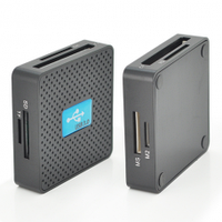 Кардридер универсальный USB 3.0 HDH-939 SD/ MMC/MS /TF/M2, USB2.0, Black, Блистер