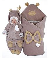 Святковий комплект для новонародженого 3 предмета .