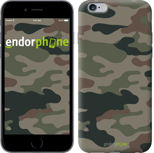 "Чехол на iPhone 6s Plus Камуфляж v3 ""1097c-91-571"""