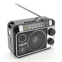 Радиоприемник JUNCDA JC-302AR, FM радио, USB, AUX, корпус пластмасс, Black, BOX
