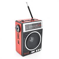 Радиоприемник COLON RX-081, FM радио, Входы microSD, USB, AUX, корпус пластмасс, Black/Blue, BOX