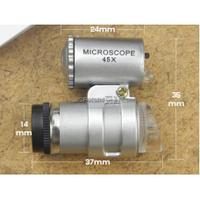 Лупа-микроскоп ручная с подсветкой, кратость-60, диаметр-14мм