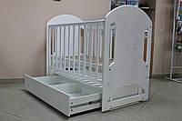 Детская кроватка Верес Соня ЛД68 маятник с ящиком, белый
