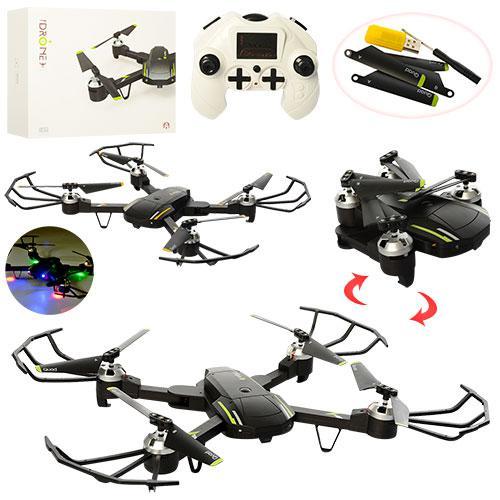 Квадрокоптер CH400 (18шт) р/у, аккум, 43см, свет, зап.лопасти,USB, 2цвета, в кор-ке, 30-23-8см