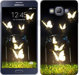 "Чехол на Samsung Galaxy A7 A700H Светящиеся бабочки ""2983c-117-328"""