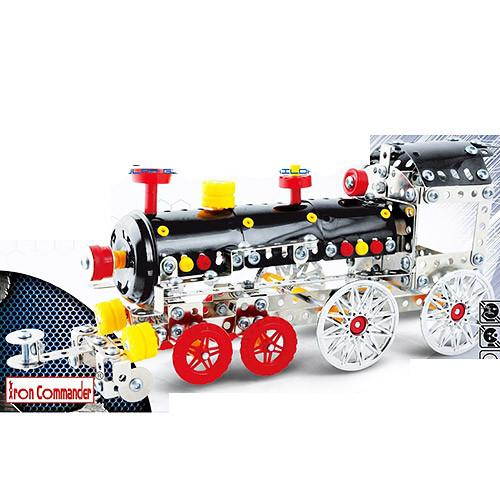 Конструктор 816B-85 (24шт) металл, паровоз, 353дет, в кор-ке, 40-27-6см