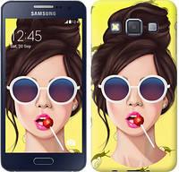 "Чехол на Samsung Galaxy A3 A300H Девушка с чупа-чупсом ""3979c-72-328"""