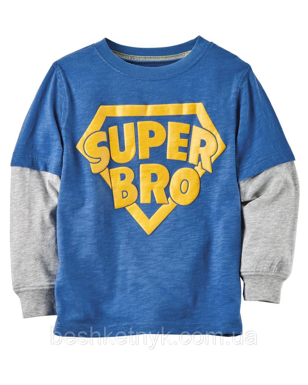 Футболка на довгий рукав Carter's - Super Bro