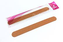 Пилочка для ногтей, тонкая, коричневая