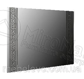 Виола Зеркало  800х1000х22мм белый глянец + черный мат   Миро-Марк