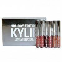 Набір матових помад Kylie Birthday Edition silver