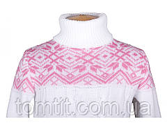 """Теплый, шерстяной свитер """"Дина"""", цвет белый,, фото 3"""