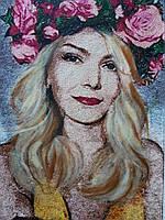 """Вышитый портрет """"Розы"""""""