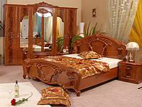 Ліжко з ДСП/МДФ в спальню горіх Олімпія 1,6х2,0 з каркасом Миро-Марк