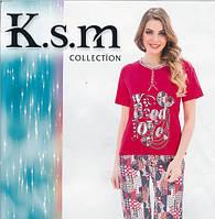 Костюм женский с капрями K.s.m, Женские пижамы с бриджами оптом Турция
