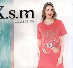 Ночнушки Туники с рисунками K.s.m Турция