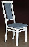 Стул деревянный с мягким сиденьем и спинкой Чумак, цвет белый, оббивка Колібрі Francesca 070LS
